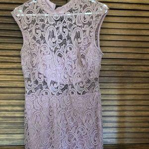 B. Darlin Mauve Lace Dress
